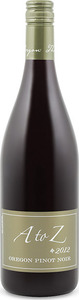 A To Z Wineworks Pinot Noir 2012, Willamette Valley Bottle