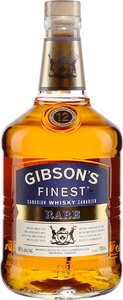 Gibson's Finest 12 Year Old Whisky Bottle