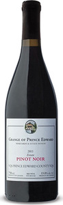The Grange Of Prince Edward Pinot Noir 2013, VQA Prince Edward County, Estate Btld. Bottle
