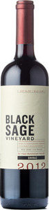 Black Sage Shiraz 2012, BC VQA Okanagan Valley Bottle