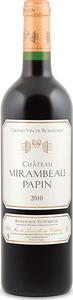 Château Mirambeau Papin 2010, Ac Bottle