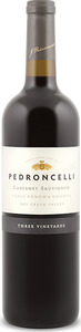 Pedroncelli Three Vineyards Cabernet Sauvignon 2012, Dry Creek Valley, Sonoma County Bottle