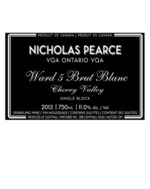 Nicholas Pearce Ward 5 Brut Blanc, Cherry Valley 2013, VQA Ontario Bottle