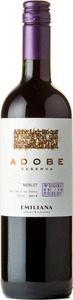 Emiliana Adobe Reserva Merlot 2014 Bottle