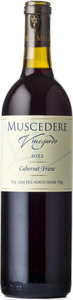 Muscedere Vineyards Cabernet Franc 2013, VQA Lake Erie North Shore Bottle