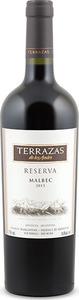 Terrazas De Los Andes Reserva Malbec 2013, Mendoza Bottle