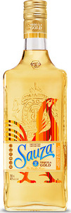 Sauza Gold Tequila Bottle