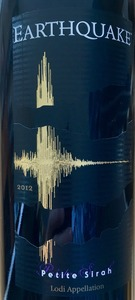 Earthquake Petite Syrah Lodi 2012 Bottle