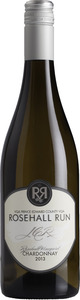Rosehall Run J C R Rosehall Vineyard Chardonnay 2013, VQA Prince Edward County Bottle