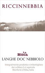 La Biòca Riccinnebbia 2012, Langhe Nebbiolo Doc Bottle