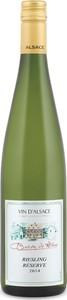Baron De Hoen Réserve Riesling 2014, Ac Alsace Bottle