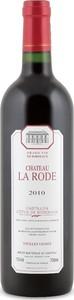 Château La Rode Vieilles Vignes 2010, Ac Côtes De Bordeaux   Castillon Bottle