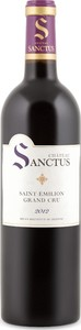 Château Sanctus 2012, Ac Saint émilion Grand Cru Bottle