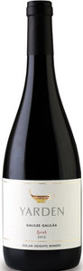 Yarden Syrah 2012, Golan Heights Bottle
