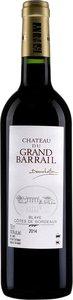 Château Du Grand Barrail 2014, Blaye Côtes De Bordeaux Bottle
