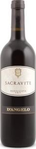 D'angelo Sacravite 2013, Igt Basilicata Bottle