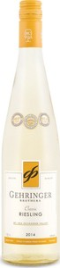 Gehringer Brothers Classic Riesling 2012, BC VQA Okanagan Valley Bottle