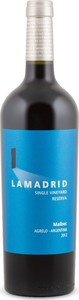Lamadrid Single Vineyard Reserva Malbec 2012, Argelo Bottle