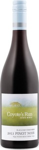 Coyote's Run Black Paw Vineyard Pinot Noir 2013, VQA Four Mile Creek, Niagara Peninsula Bottle