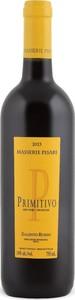 Masserie Pisari Primitivo 2013, Igt Salento Rosso Bottle