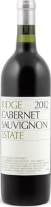 Ridge Estate Cabernet Sauvignon 2012, Monte Bello Vineyard, Santa Cruz Mountains Bottle