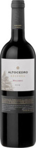 Altocedro Reserva Malbec 2012, La Consulta Vineyards, Uco Valley, Mendoza Bottle