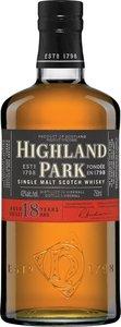 Highland Park 18 Years Old Orkney Islands Single Malt Bottle