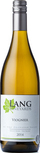 Lang Vineyards Viognier 2015 Bottle