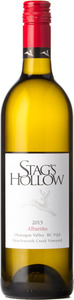 Stag's Hollow Albarino Shuttleworth Creek Vineyard 2015, Okanagan Valley Bottle