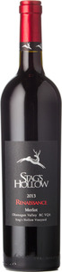 Stag's Hollow Merlot Renaissance Stag's Hollow Vineyard 2013, BC VQA Okanagan Valley Bottle