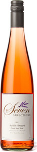 Seven Directions Wine Pinot Noir Rosé Kalala Vineyard 2015, BC VQA West Kelowna, BC VQA Okanagan Valley Bottle