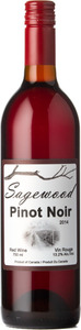 Sagewood Winery Pinot Noir 2014, British Columbia Bottle