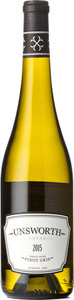 Unsworth Vineyards Pinot Gris 2015, Vancouver Island Bottle