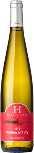 Huff Estates Winery Off Dry Riesling 2015, Ontario Bottle