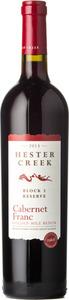 Hester Creek Estate Winery Block 3 Reserve Cabernet Franc 2013, BC VQA Okanagan Valley Bottle