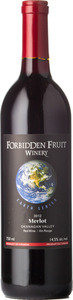 Forbidden Fruit Earth Series Merlot 2012, Similkameen Valley Bottle