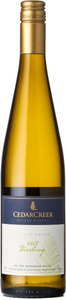 CedarCreek Riesling 2015, Okanagan Valley Bottle