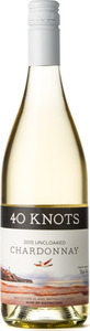 40 Knots Uncloaked Chardonnay 2015, Vancouver Island Bottle