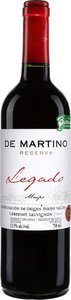 De Martino Legado Reserva Cabernet Sauvignon 2013, Maipo Valley Bottle