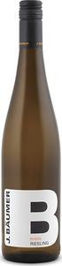 J. Bäumer Riesling 2014, Qualitätswein Bottle