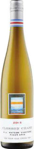 Closson Chase K J Watson Vineyard Pinot Gris 2015, VQA Four Mile Creek Bottle