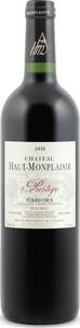 Château Haut Monplaisir Prestige Cahors Malbec 2011, Ac Cahors Bottle