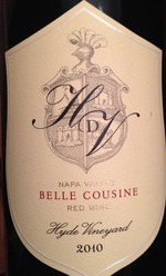 Hyde De Villaine Belle Cousine 2006 Bottle