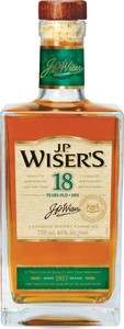 J.P. Wiser's 18 Years Old Canadian Whisky Bottle