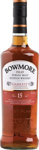 Bowmore Darkest 15 Years Old Islay Single Malt Scotch Whisky, Sherry Cask Finished Bottle