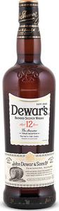 Dewar's 12 Ans Blended Scotch Whisky Bottle