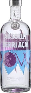 Absolut Berri Açaí Flavoured Vodka, Sweden Bottle
