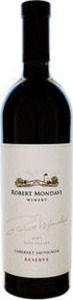 Robert Mondavi Reserve Cabernet Sauvignon 1980, Napa Valley Bottle
