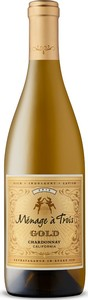 Menage A Trois Gold Chardonnay 2015 Bottle