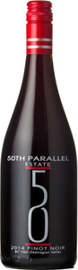 50th Parallel Pinot Noir 2014, Okanagan Valley Bottle